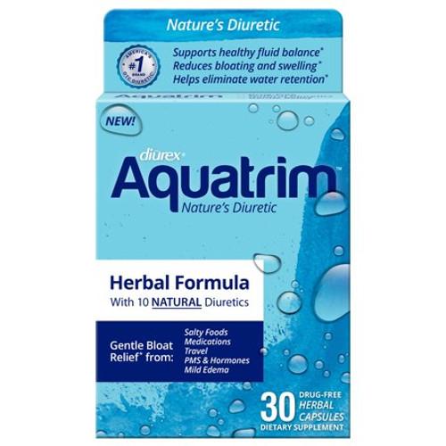 Diurex Aquatrim Herbal Formula Water Pills, 30 ct