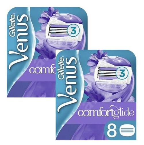 Gillette Venus Comfort Glide Razor Refill Cartridges, Breeze, 8 ct, 2 PACKS