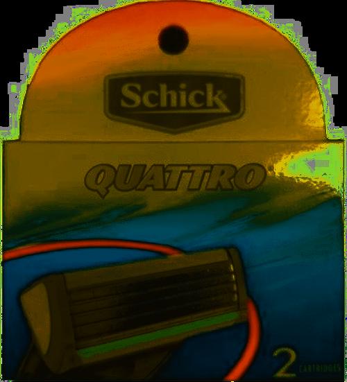 Schick Quattro for Men Razor Refill Cartridges, 2 CT