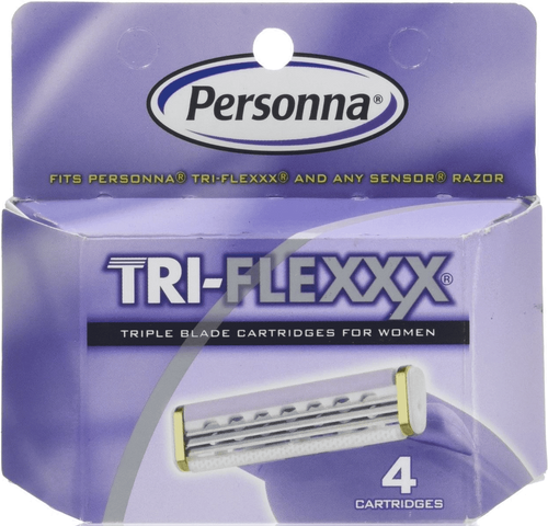 Personna Tri-flexxx for Women 3-Blade Cartridge Refills, (Fits Sensor Razors), 4 ct