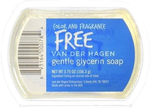 Van der Hagen Glycerin Shave Soap, Color & Fragrance Free, 3.75 oz