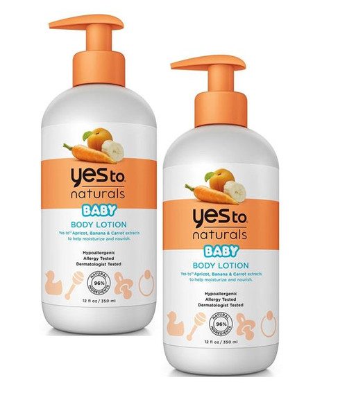 Yes To Naturals Baby Body Lotion, 12 oz, 2 PACKS