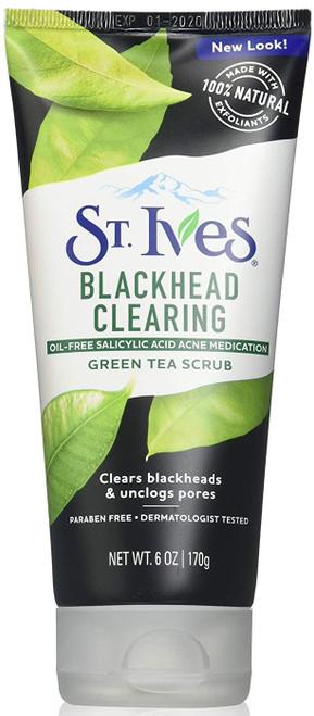 St Ives Blackhead Clearing Green Tea Scrub, 6 OZ