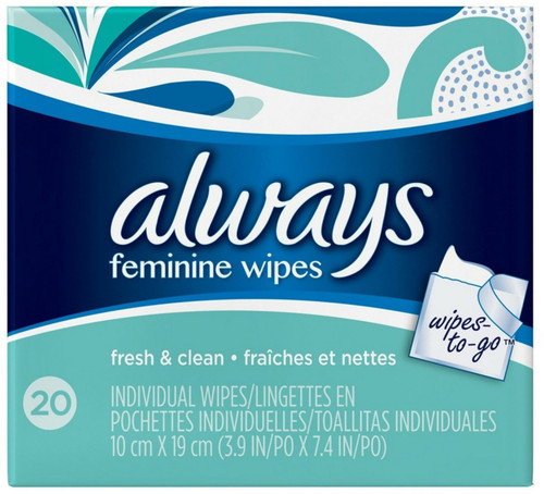 Always Clean Feminine Wipes, 20 ct, 3 PACKS