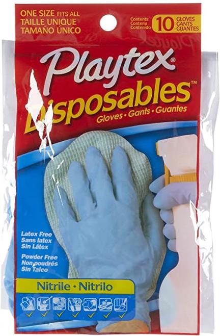 Playtex Disposable Nitrile Latex-Free, Powder Free Gloves, 10 ct
