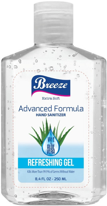 Breeze Advanced Formula Refreshing Gel Hand Sanitizer, 8.4 oz
