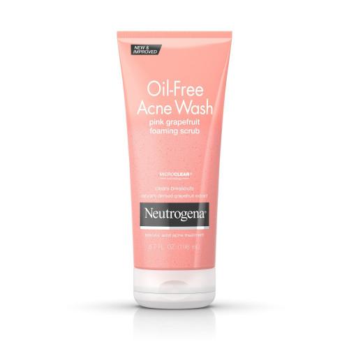Neutrogena Oil-Free Acne Wash Pink Grapefruit Foaming Scrub, 6.7 oz