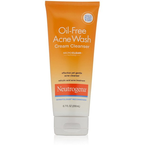 Neutrogena Oil-Free Acne Wash Cream Cleanser, 6.7 oz