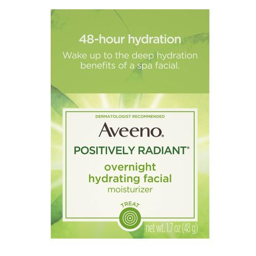 Aveeno Positively Radiant Overnight Hydrating Facial Moisturizer, 1.7 oz