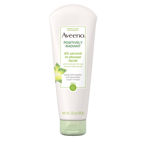 Aveeno Positively Radiant 60 Second In-Shower Facial, 5 oz