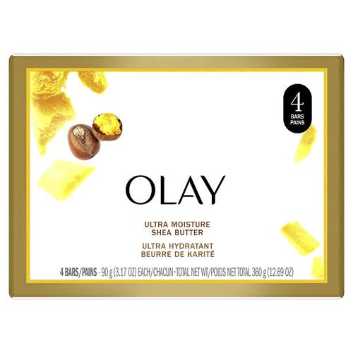 Olay Ultra Moisture Shea Butter Soap Bars, 3.17 oz, 4 BARS