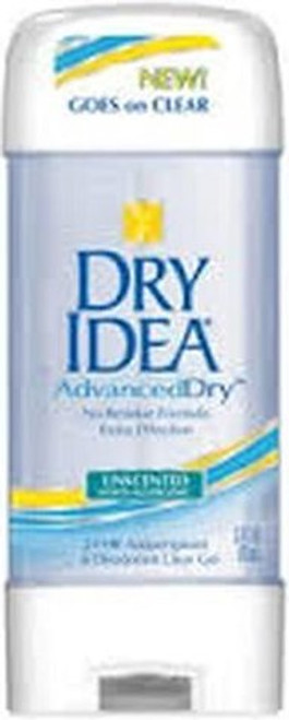 Dry Idea Advanced Dry Antiperspirant & Deodorant Clear Gel, Unscented, 3 oz, 3 PACKS