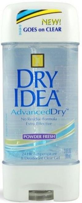 Dry Idea Advanced Dry Antiperspirant & Deodorant Clear Gel, Powder Fresh, 3 oz, 3 PACKS