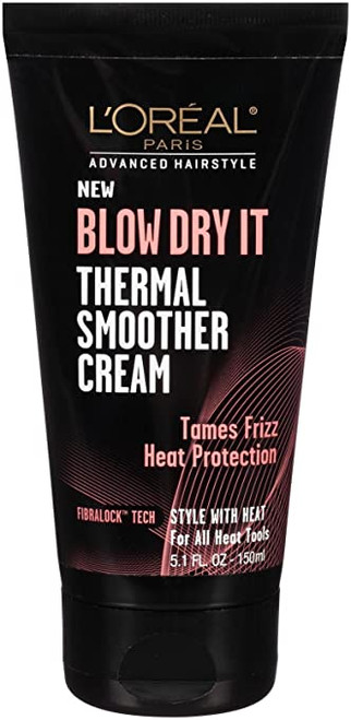 L'Oreal Paris Advance Hairstyle Blow Dry It Thermal Smoother Cream, 5.1 oz