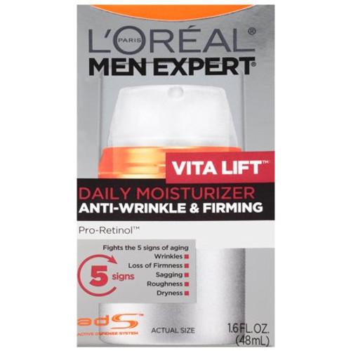 L'Oreal Men's Expert VitaLift Daily Moisturizing Anti-Wrinkle & Firming Moisturizer, 1.6 oz