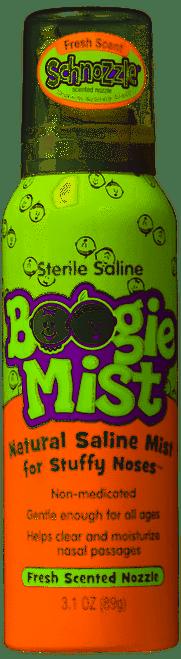 Boogie Mist Natural Saline Nose Mist, Fresh Scent, 3.1 oz