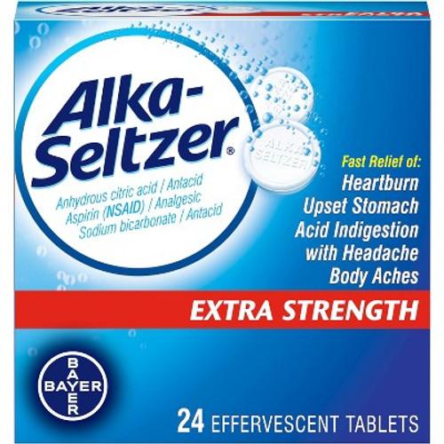 Alka Seltzer Extra Strength Effervescent Antacid Tablets, 24 ct