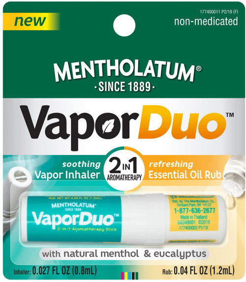 Mentholatum Vapor Duo 2-In-1 Aromatherapy Inhaler & Rub