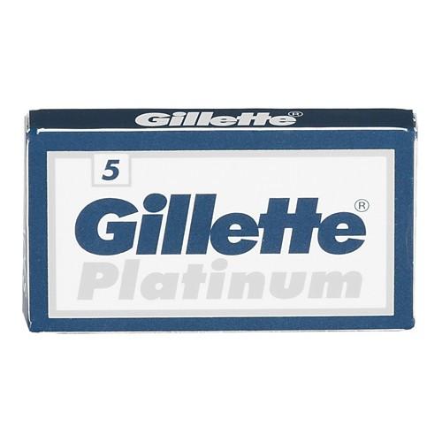 Gillette Platinum Double Edge Razor Refill Blades, 5 CT
