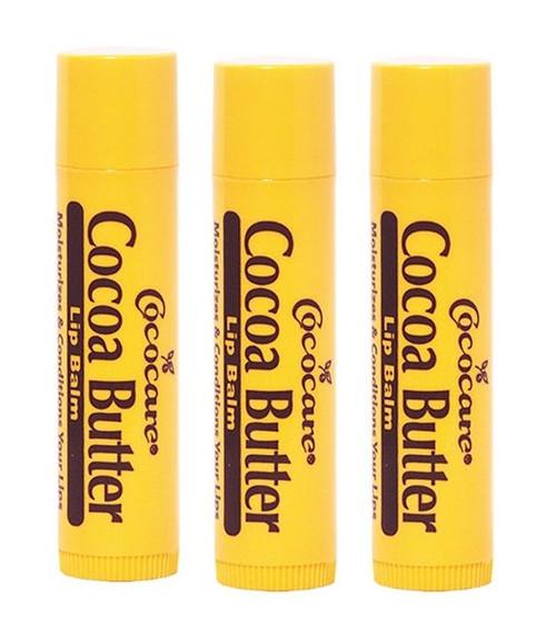 Cococare Cocoa Butter Lip Balm, 0.15 oz, 3 CT