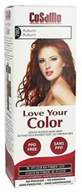 Cosamo Love Your Color Hair Color, #780 Auburn (Comparable To Loving Care)