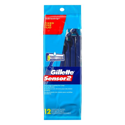 Gillette Sensor2 Disposable Razors with Lube Strip, 12 CT