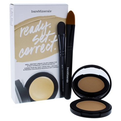 bareMinerals Ready Set Correct, Well-Rested Cream Color Corrector & Brush Duo