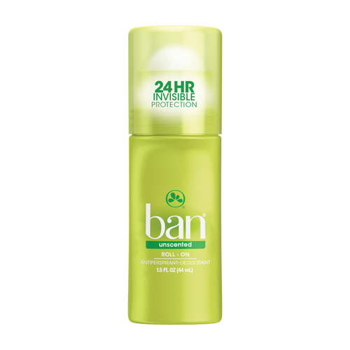 Ban Anti-Perspirant & Deodorant Original Roll-On, Unscented, 1.5 oz