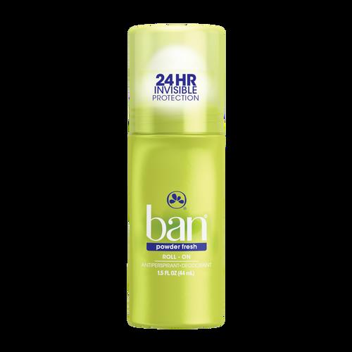Ban Anti-Perspirant & Deodorant Original Roll-On, Powder Fresh, 1.5 oz
