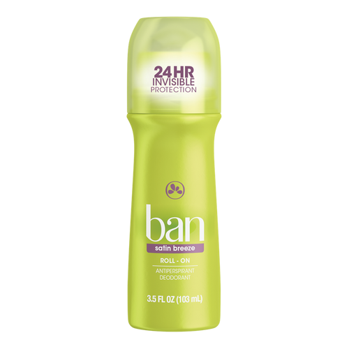 Ban Anti-Perspirant & Deodorant Original Roll-On, Satin Breeze, 3.5 oz