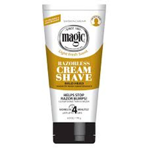 Magic Shave for Men Razorless Bald Head Shave Cream, 6 OZ