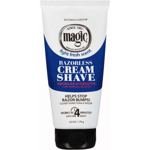 Magic Shave for Men Razorless Regular Strength Shave Cream, 6 OZ
