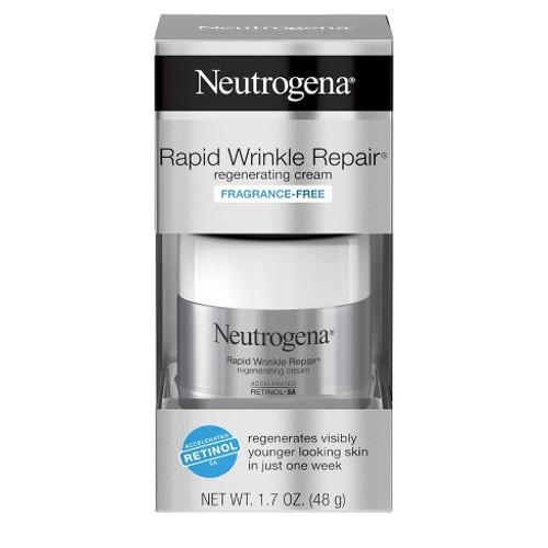 Neutrogena Rapid Wrinkle Repair Regenerating Cream, Fragrance Free, 1.7 OZ (EXP 9-21)