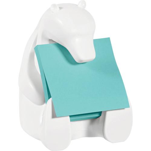 Post-It Pop Up Notes, White Polar Bear Dispenser, 3 x 3, 45 Sheets