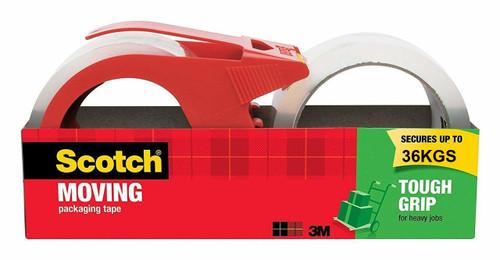Scotch Moving Packaging Tape, Tought Grip, 48mm x 75m, 1 Dispenser + 2 Rolls