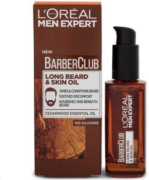 L'Oreal Men Expert Barber Club, Long Beard & Skin Oil, 30 ml (1.01 OZ)