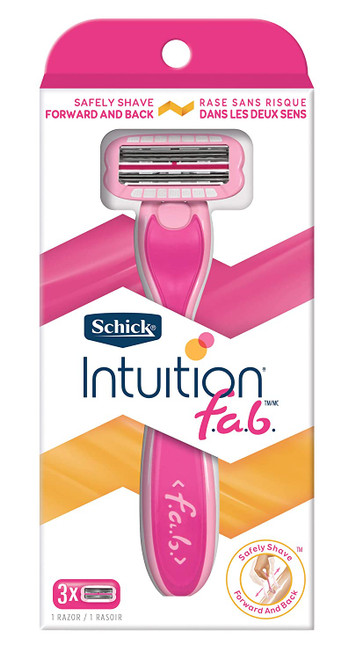 Schick Intuition FAB 5-Blade Razor + 3 Refill Cartridges