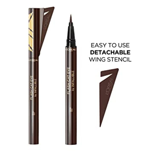 L'Oreal Flash Cat Eye Infallible Liquid Eyeliner with Wing Stencil