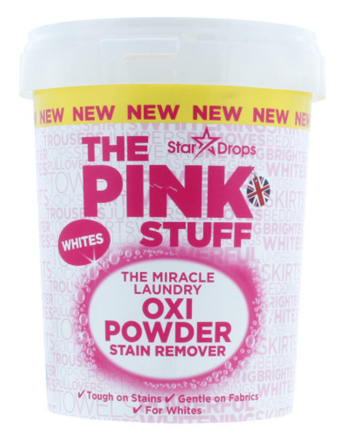 The Pink Stuff The Miracle Laundry Oxi Powder Stain Remover for Whites, 1 kg (35.2 OZ)