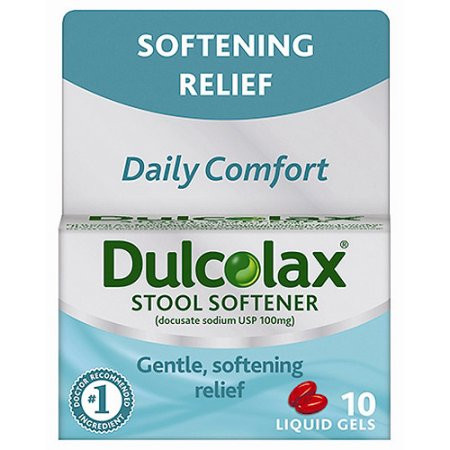 Dulcolax Gentle Stool Softener 100 Mg Liquid Gels 10 Ct