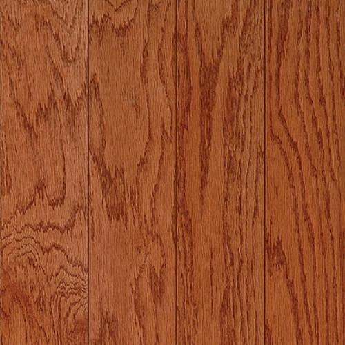 "Harris Hardwood Red Oak Dark Gunstock 4.75"" Click Together Engineered Hardwood Flooring 1023"