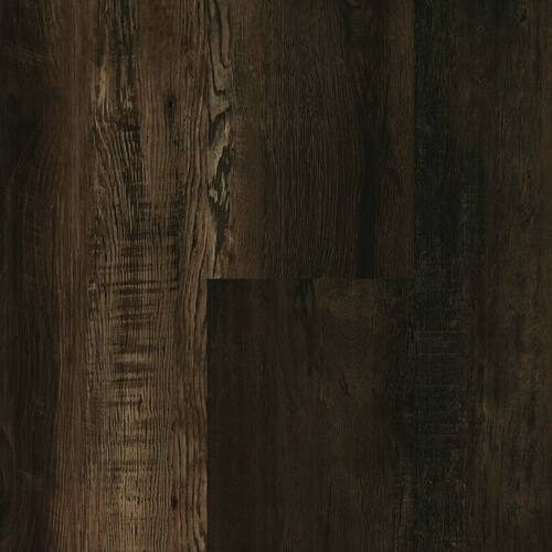 """Master Design Home Living Collection Rigid Core Country Bark Oak 9"""" x 60"""" Waterproof Vinyl Plank with Attached Pad FS071"""