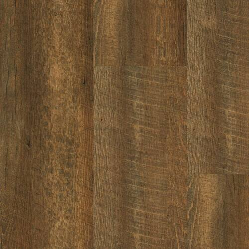 """Master Design Home Living Collection Rigid Core Dusty Trail Oak 9"""" x 60"""" Waterproof Vinyl Plank with Attached Pad FS026"""