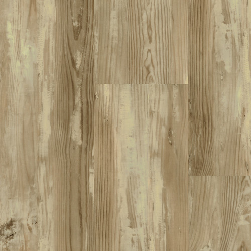 """Master Design Home Living Collection Distressed Snowy Hickory Rigid Core  9"""" x 60"""" Waterproof Vinyl Plank with Attached Pad FS101"""