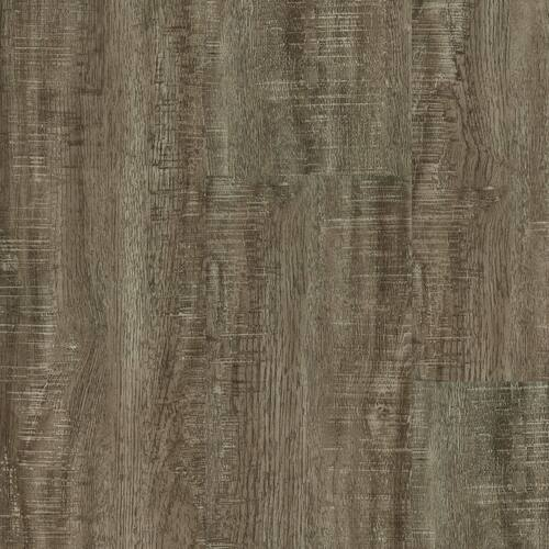 """Master Design Home Living Collection Rigid Core Silver Bow Distressed Oak 9"""" x 60"""" Waterproof Vinyl Plank with Attached Pad FS031"""