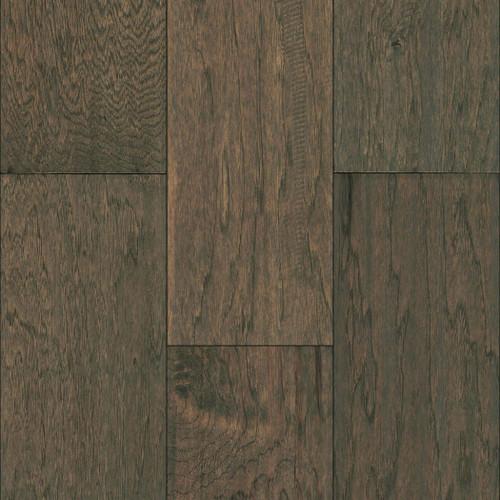 "Mullican Hadley Hickory Greystone 7"" Sculpted Engineered Hardwood Flooring 22066"