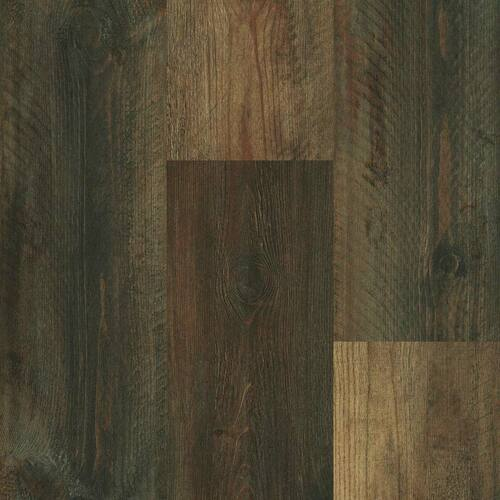 "Master Design Yukon Collection Distressed Flagstaff Hickory Rigid Core Waterproof Flooring 7"" x 48"" Waterproof Luxury Vinyl Plank Flooring FS150-1"