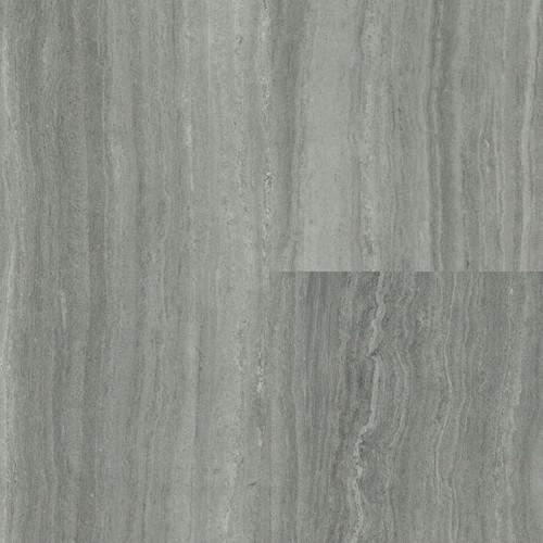 "Supreme Click Silver Teakwood 12"" x 48"" Waterproof SPC Luxury Vinyl Rigid Plank Flooring with Attached Pad"