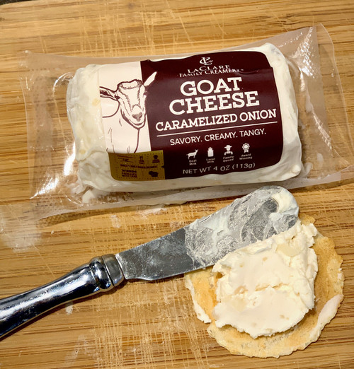LaClare Caramelized Onion Goat Cheese (Chevre)