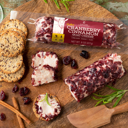 LaClare Rolled Cranberry Cinnamon Goat Cheese (Chevre)